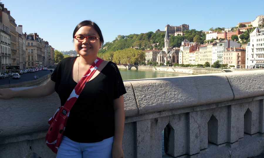 Me by the river Saone